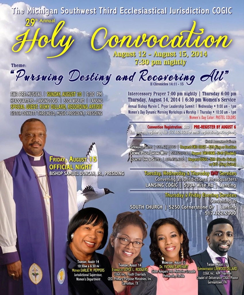 29th Holy Convocation Official Night | Lansing COGIC's FYI Blog